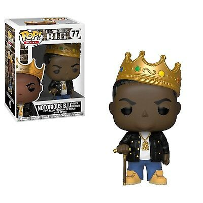 Funko Rocks POP Notorious B.I.G. With Crown Vinyl Figure NEW IN STOCK Toys
