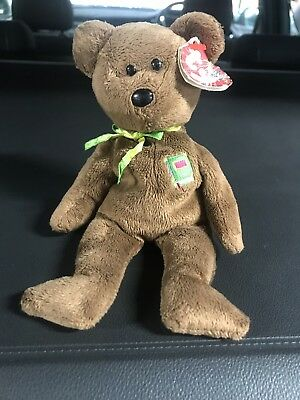 f3abd3965bb Rare Ty Beanie Baby William Brown Bear Closed Book Tags Collector  Shakespeare