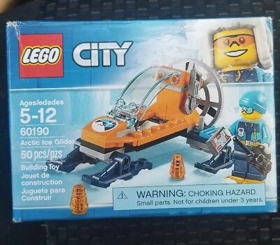 60190 LEGO City Arctic Expedition Arctic Ice Glider 50 Pieces Age 5 New 2018!