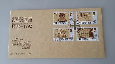 Guernsey Stamps FDC 1992 500th Anniversary of the Discovery of America