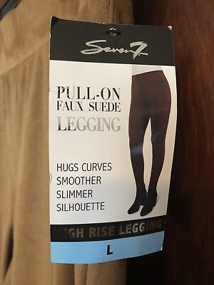 7f1cb5e7f2c94 NWT Seven7 Pull-On Faux Suede High Rise Leggings Size Large $59 Retail Camel