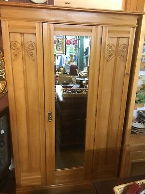 Antique Victorian Pine Child's Wardrobe