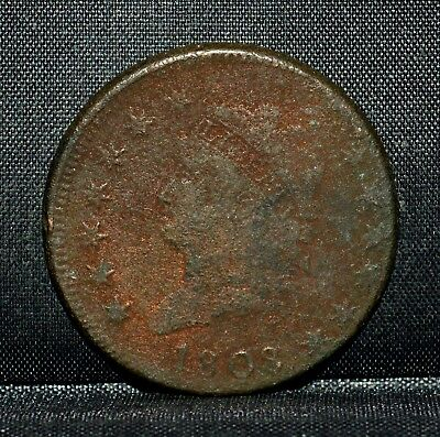 1808 Classic Head Large Cent ✪ Vf Very Fine Details ✪ 1C L@@k Now Coin ◢Trusted◣