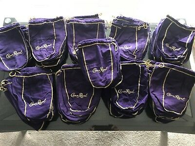 Lot of 95 Crown Royal Purple Bags 750ml Craft Quilt Sewing NEW Medium CR Canada
