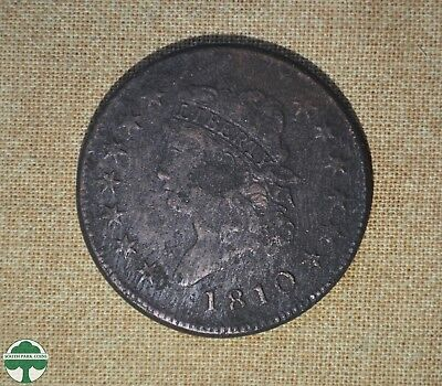 1810 Classic Head - One Cent - Very Good Details - Pitted