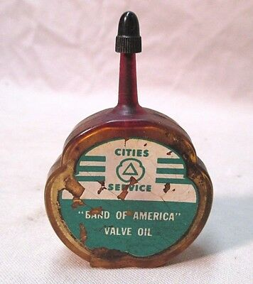 Vintage Cities Service  Band Of America Valve Oil Can Figural Sample Handy Oiler