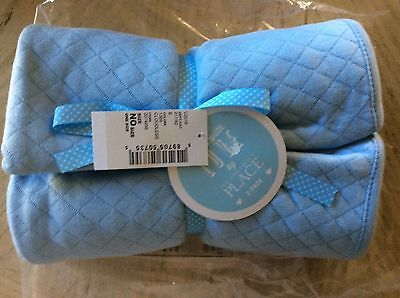 "Baby Boy 2Pc Blue Layette Swaddle Blankets"" The Children's Place/NWT"