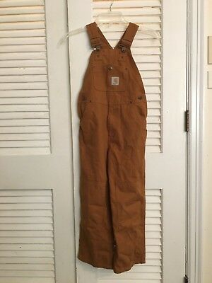 Carhartt overalls youth size 7