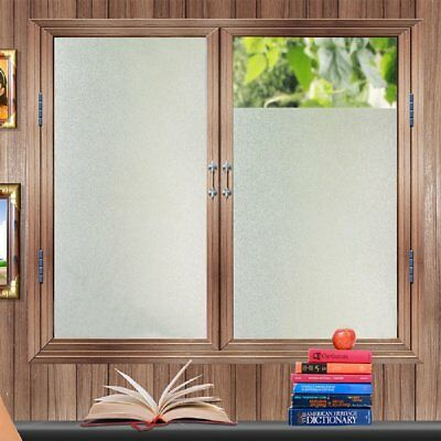 Etched Privacy Window Film Decorative Non Adhesive Glass Contact Paper Frosted X