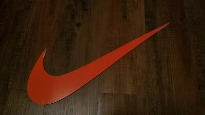 "Nike Swoosh Store Medium Size Display Cool Old Shoe Advertising Sign 20"" x 7"""