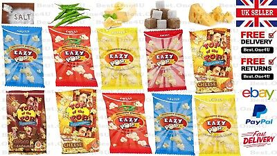 Eazy Popcorn Microwave Easy Made + Butter+Sugar+Cheese+Salt  Flavour*Uk Sell*