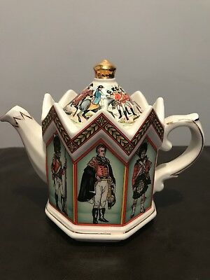 Duke Of Wellington Waterloo Sadler Tea Pot Staffordshire