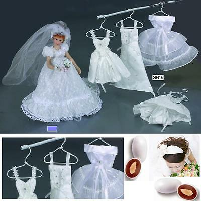 PLACEHOLDER DRESS WEDDING IVORY-WHITE with SUGARED ALMONDS BAGS and hanger 2