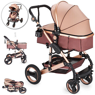 2 in 1 Baby Stroller Buggy Kids Pram Newborn Pushchair Foldable Travel System