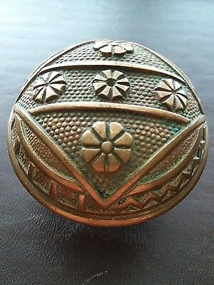 Beautiful Antique Victorian Eastlake Door Knob Ornate Brass Bronze