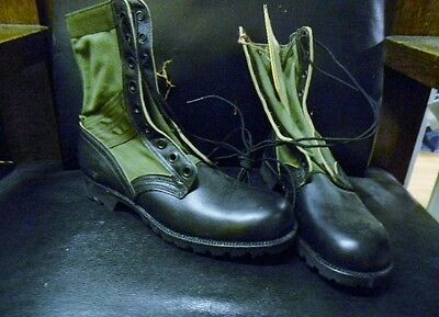 Genuine Us Military Vintage Vietnam Era Jungle Boots--New/unissued--Size 9N