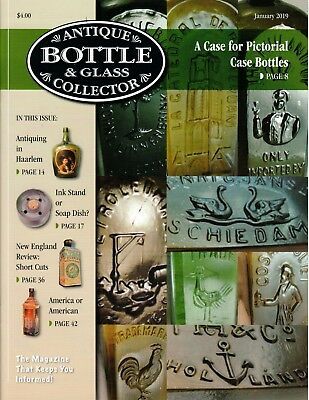 New 2019 January Issue of Antique Bottle & Glass Collector Magazine!