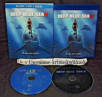 Deep Blue Sea 2 (Blu-ray and DVD, 2018) Danielle Savre, Rob Mayes - VERY GOOD
