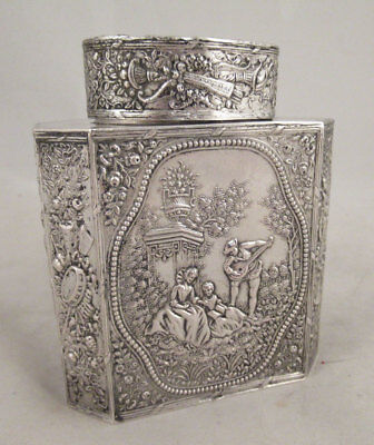 Late 19th Century European Silver Tea Caddy