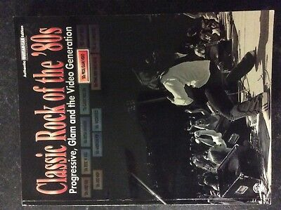 Classic Rock of the '80s. Guitar tab book, sheet music. Glam rock covers