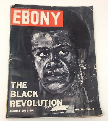 1969 AUGUST ISSUE OF EBONY MAGAZINE WITH BLACK REVOLUTION 1969 Collectible