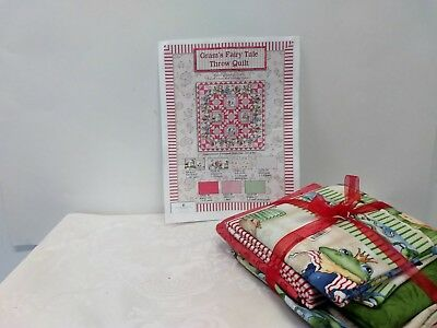 Gram's Fairy Tale Throw Quilt Kit Wilmington Prints Fabric New