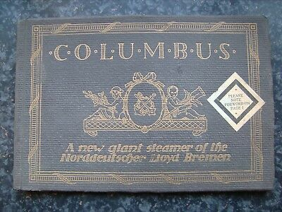 Ss Columbus (A.k.a. Ss Homeric-White Star Line) Deluxe Large Brochure 1913 Ndl