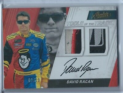 2017 Absolute David Ragan Dual Auto Relic **9/10** **on-Card** **must See**