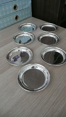 7 x silver plated drinks coasters
