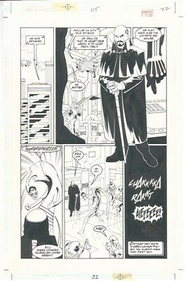 Green Lantern Vol.2/ #115 Published page art by Mike Miller  1999