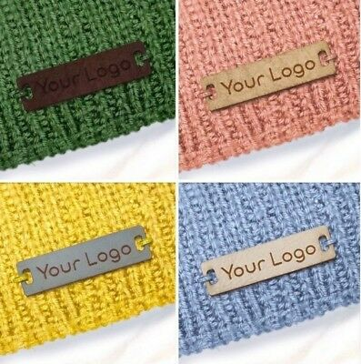 Custom Faux Leather Labels Tags 28x8mm Knitting Sewing Crochet Handmade Font 1