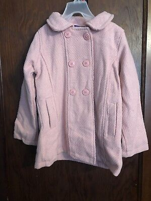 b07047955d5 MADDEN GIRL LINED pea coat BLUSH PINK wool NWT girls 5 - $36.99 ...