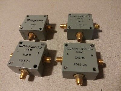 Lot of 4 Mini Circuits 15442 ZFM-15 Frequency Mixer