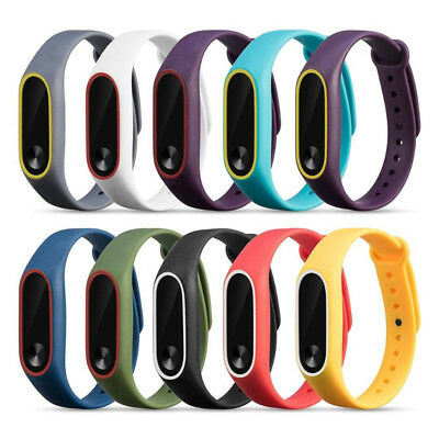 Replacement Wristband Silicone Smart Watch Strap Bracelet For Xiaomi Mi Band 2