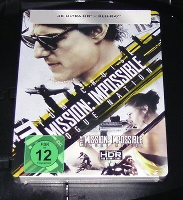 Mission : Impossible 5 Rogue Nation 4k Ultra HD Blu-Ray Limitée Steelbook Neuf