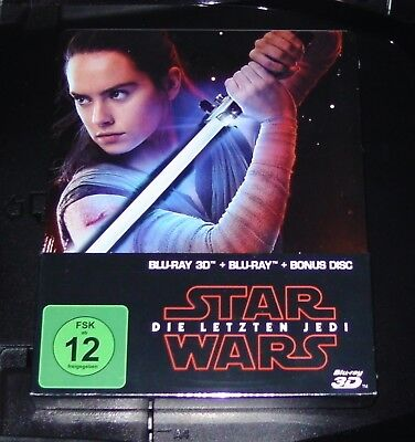 Star Wars the Last Jedi 3D Blu-Ray+Blu-Ray+Bonus Limited Steelbook New
