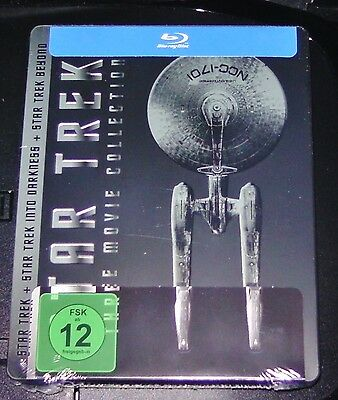 Star Trek the Movie Collection Limited Embossed Steelbook Blu Ray New Ovp