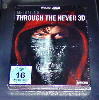 Metallica through the Never 3D Limited Steelbook Edition 3D +2D Blu-Ray New
