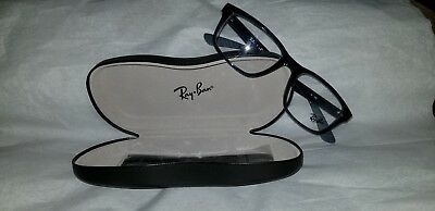 ab7f9ba8645 New Ray Ban Optical Eyeglasses RX Frame RB 7063 5719 Blue Transparent 52-18-