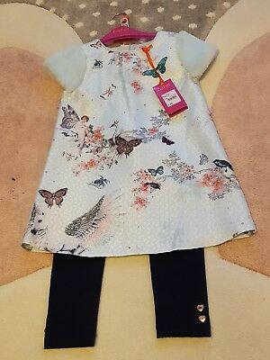 Girls 🎀 TED BAKER 🎀 2 Pc Pegasus Unicorn Print Outfit BNWT 5-6 Yrs Rrp£45 💗