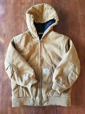 Kids 7/8 Carhart Brown Winter Work Jacket,insulated,childs,cold,snow, Very Nice!