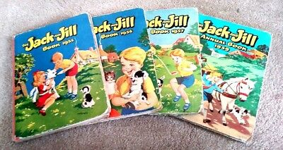 The Jack and Jill Annual book 1955, 1956, 1957 AND 1959