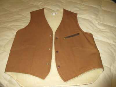 Caboose N Hampshire Caboose Works Men's Tan Vest - Size Extra Large