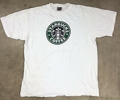 90s XL Starbucks Coffee Shirt Oneita Power T Vintage Seattle