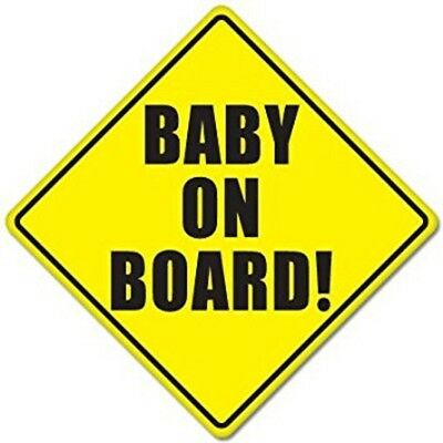 2 Pack Hi Vis Baby On Board Sign Decal With Suction Caps ,free Standard Post