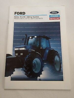 Ford 8670 8770 8870 8970 tractor brochure 1994 New Holland