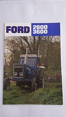 Ford 2600 & 3600 tractor brochure 1975 New Holland