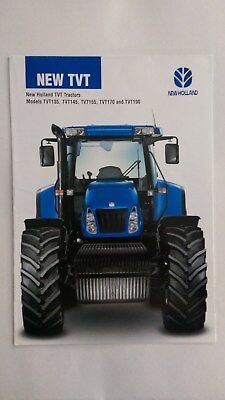 New Holland TVT 135 145 155 170 190 tractor brochure 2004 New Holland