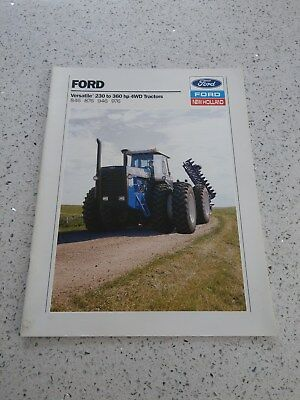 Ford New Holland Versatile 846 876 946 976 tractor brochure 1989