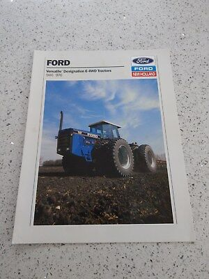 Ford New Holland Versatile 946 976 tractor brochure 1989